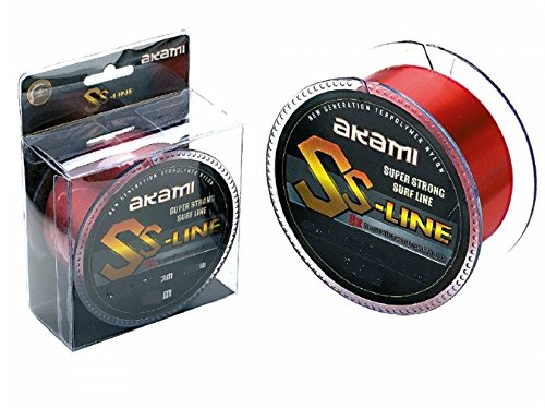 AKAMI SS Line Super Strong Surf Line Lenza 0.20MM 300MT Red 5.20kg - 11.45lbs