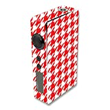 MightySkins Skin Compatible with Sigelei 150W – Red Houndstooth | Protective, Durable, and Unique Vinyl Decal wrap Cover | Easy to Apply, Remove, and Change Styles | Made in The USA