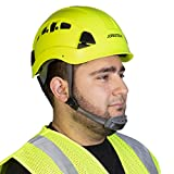JORESTECH Hard Hat Lime ABS Work-At-Height and Rescue Slotted Ventilated Helmet with 6-Point Ratchet Suspension ANSI Z89.1-14 Certified For Work, Home, and General Headwear Protection HHAT-04