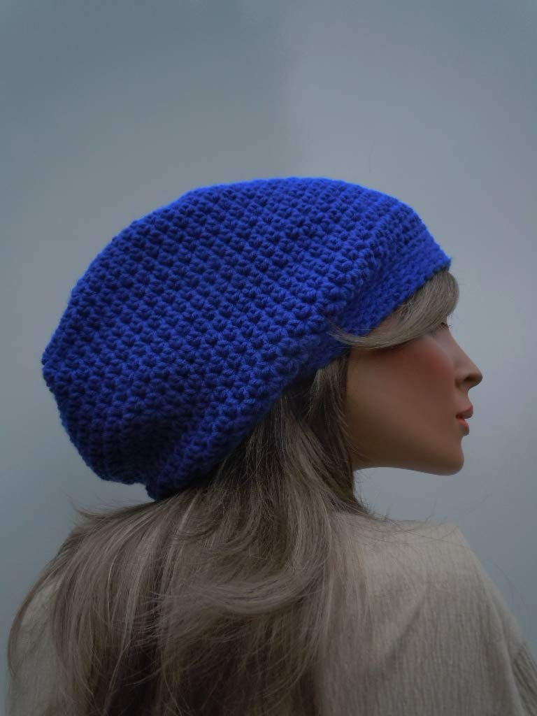 Royal Blue Slouchy Max 65% OFF Limited Special Price Hippie Dreadlock Beanie Oversized