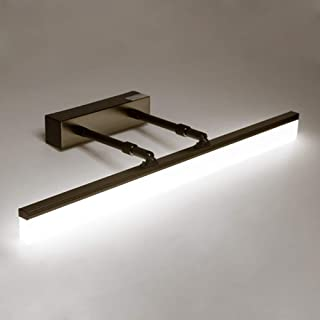 9W Led Mirror Front Light - Adjustable Bathroom Lamp Stainless Steel Make-up Lights Vanity Lighting Black/Cold White