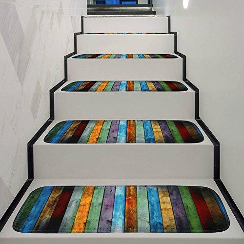 YHLVE 1 Alfombra Antideslizante Lavable para Escalera con Parte Trasera de Goma Antideslizante especializada para escalones de Madera en Interiores (70 x 22 x 1 cm)