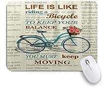 NIESIKKLAマウスパッド 新聞自転車を引用 ゲーミング オフィス最適 おしゃれ 防水 耐久性が良い 滑り止めゴム底 ゲーミングなど適用 用ノートブックコンピュータマウスマット