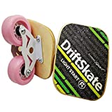 Outdoor Freeline Roller Skates Road Drift Skates Plate with PU Wheels and ABEC-9 608 Bearings (Pink with Maple Wooden Plates)