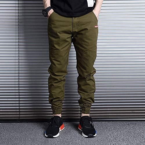 Pantalones Vaqueros Streetwear para Hombre Pantalones Holgados con Fondo Suelto Pantalones Harem Informales para Hombre Pantalones De Hip-Hop XXXL Verde
