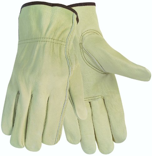 Economy Leather Driver Gloves, Medium, Cream