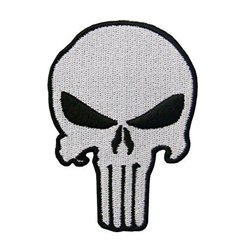 CasStar Aufnaeher Aufbuegler Patches Applikation Buegelbild Marvel's Punisher Classic Skull