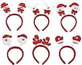 (Pack de 6) Femmes Filles Mignon Noël Bandeau Décoration Santa Claus...