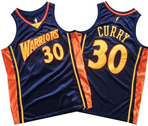 JAG Maglia da Basket retrò Stephen Curry 30#, Divisa da Basket Golden State Warriors da Uomo, Abbigliamento da Allenamento Senza Maniche Swingman NBA, Misura Intera