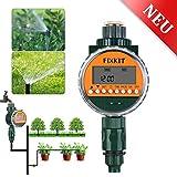 FIXKIT Neue Bewässerungsuhr mit Regensensor- Magnetventile, LCD-Display, wasserdichter Schutzhülle...