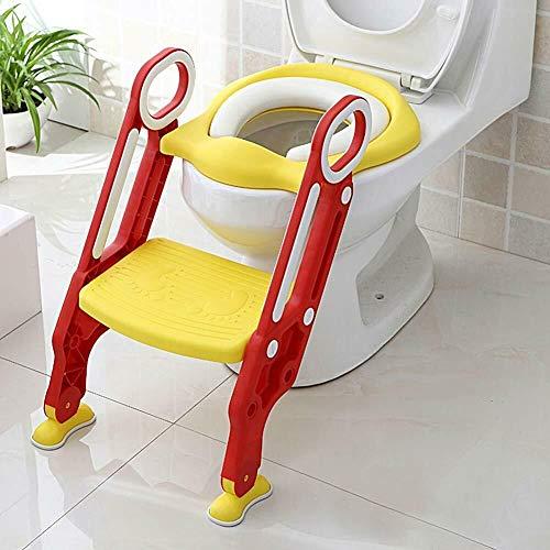 EBTOOLS Riduttore WC per Bambini con Scaletta Pieghevole, Toilette per Bambini, Scaletta Bagno per Bambini Riutilizzabili Sedile Potty Training per Il Bambino(Giallo)