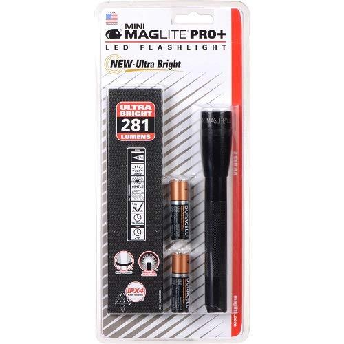 Mag-Lite Mini Pro+ LED Taschenlampe, 281 Lumen, ANSI Standard getest, schwarz SP+P01H