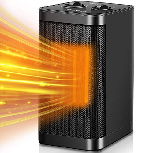 Electric Space Heater - Merece 1500W PTC Portable Space Heaters for...
