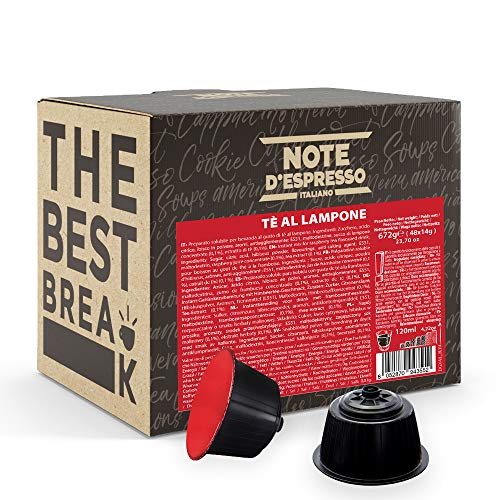 Note D'Espresso - Tè ai Lamponi Rossi - Capsule Compatibili Soltanto con Nescafé Dolce Gusto* - Confezione da 48 X 14g