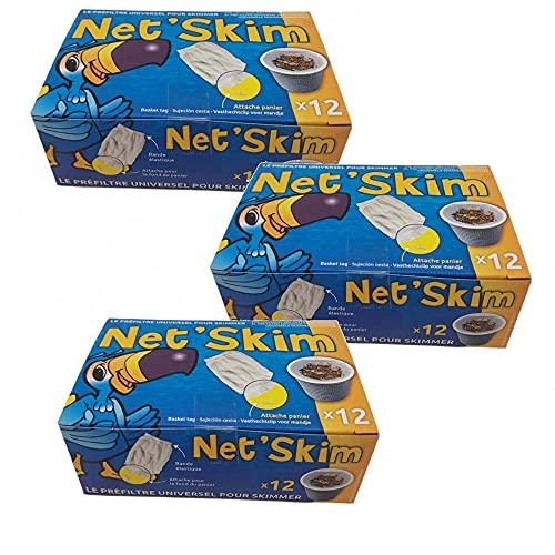36 sacs chaussettes Pre Filtre universels pour skimmer piscine & Spa net Skim - Lot de 36 pièces