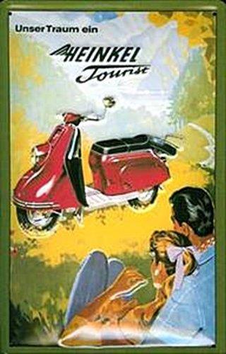 Buddel-Bini Versand Blechschild Heinkel Tourist Motorroller Nostalgieschild Schild