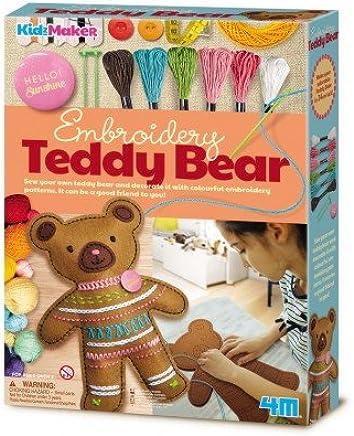 4M 刺绣泰迪熊玩具