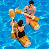 Anillo flotador para bebé, 4 unidades/juego, juego de piscina flotante hinchable de agua, juguete deportivo para adultos, niños, fiesta, gladiador, raft