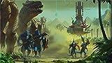XHJY Puzzle 500 Piezas De Madera-Juguetes Educativos para Adultos Juegos Infantiles-Juguetes Educativos Decoración De Rompecabezas, 20In X 15In,Total War Warhammer II