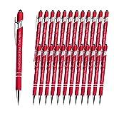 Bolígrafos Personalizados Grabados con Nombre para Regalo, 24 Piezas Bolígrafos Personalizables con Logotipo Mensaje para Cumpleaños, Graduaciones, Aniversarios (Tinta Negra)