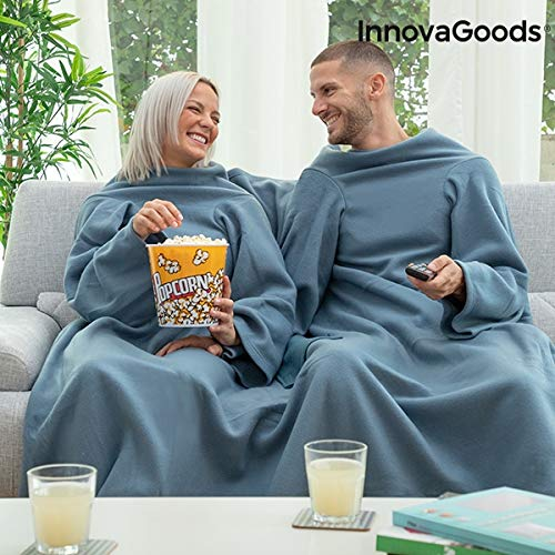 InnovaGoods Batamanta Doble con Bolsillo Central Doublanket-