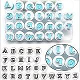 26PCS/Set Cookie Stamp Impress Cookie Cutters Alphabet Letter Fondant Cake Biscuit Mold Letter Shape DIY Cookie Biscuit Alphabet Letters Cake Tool Embosser Cutter (Upper Case Letter Shape)