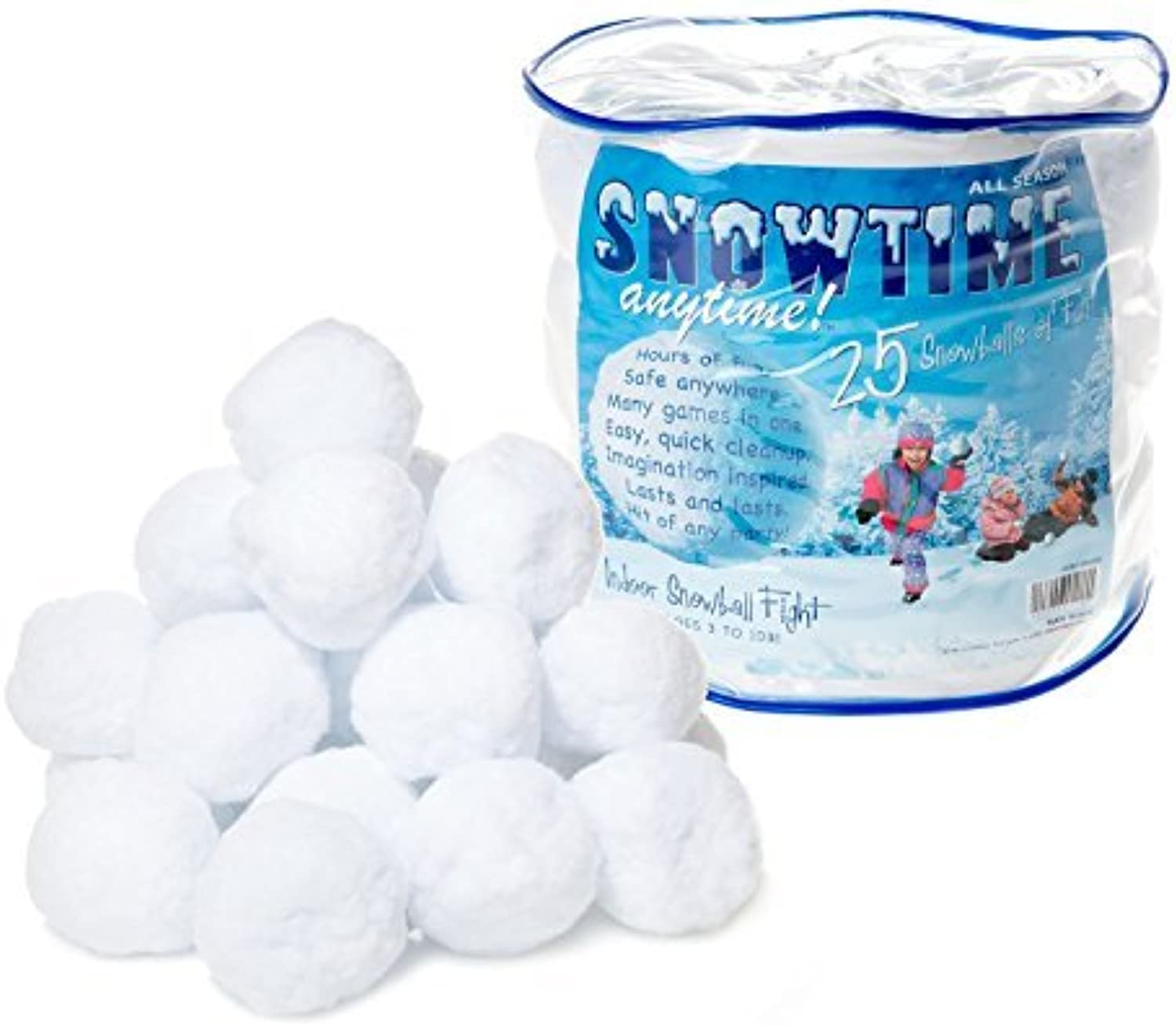 Snowtime Anytime Indoor Snowballs - 25pk by SNOWTIME ANYTIME