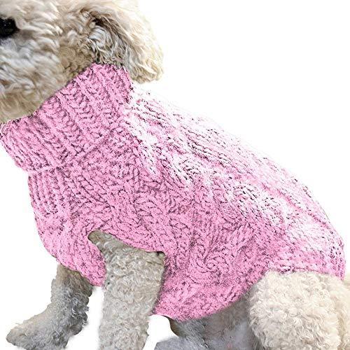 FANMU Chaleco suéter para Perros Abrigo cálido, Suave y cómodo Pequeño Perro...