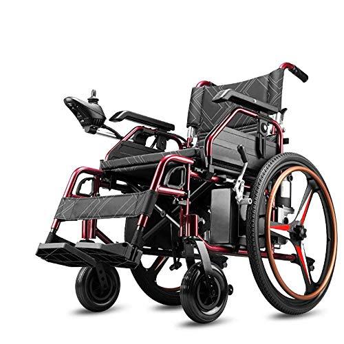 TWL LTD-Wheelchairs Durable, Plegable, Transporte de Energía, Silla de Ruedas Eléctrica, Silla Plegable Móvil, Silla de Ruedas Motorizada, Automatizada Y Portátil, Que Puede Elevarse Y Bajarse, re