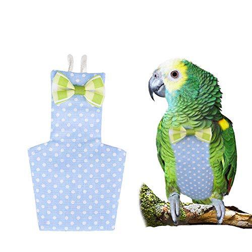 Pañal de pájaro Lavable, Pañuelo de Traje de Vuelo de pájaro de Viaje al Aire Libre, Pañuelo de Loro de pájaro de Loro de Moda, para Loros Conure Finch, Azul,M