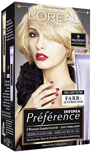 L'Oréal Paris Préférence Coloration Helles Naturblond 9, 3er Pack (3 x 1 Colorationsset)