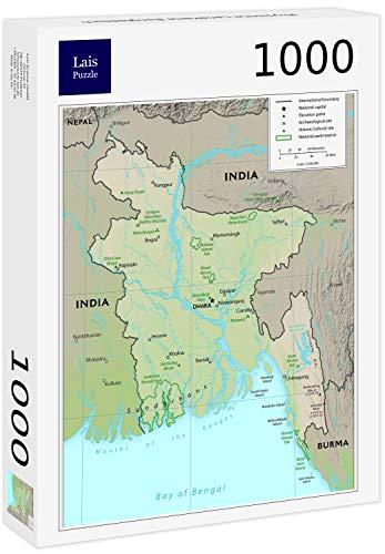 Lais puzzel Fysieke kaart van Bangladesh 1000 stuks