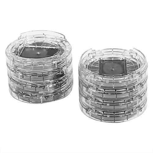 Möbelerhöhungen, rund, 8 Stück, verstellbar, aus Kunststoff, für Wohnzimmer, Schlafzimmer, Büro oder Esszimmer (transparent)