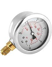 Akozon Manómetro 0-250Bar 0-3750PSI G1/4 Medidor de Presión de Agua Hidráulica de 63m Manómetro Digital