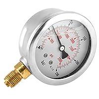 油圧計、0-250Bar 0-3750PSI G1/4 63mmダイヤル油圧式水圧計メーター油圧計
