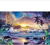 ChuYuszb Puzzle Rompecabezas de escenas de Playa para Adultos de Madera, 1000 Piezas,...