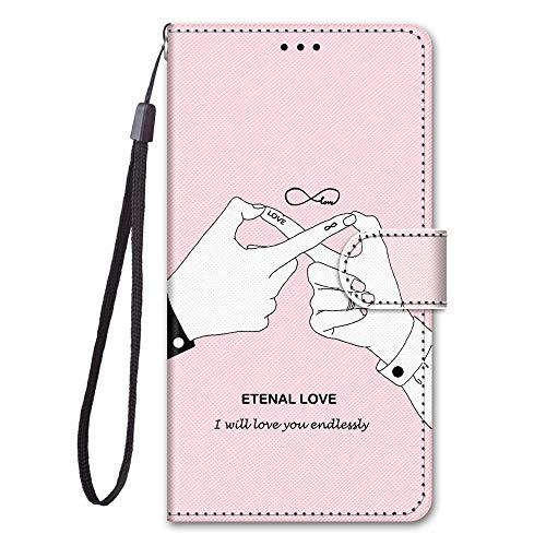 Nodigo Funda Compatible con Huawei P8 Lite 2017 Antigolpes Libro Billetera Magnetica Flip Silicona Dibujos Animal Motivo 360 Carcasa Case Bumper Kawaii Resistente Cover - Love
