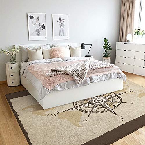 JOLIEAN vloermat, non-slip tapijt mat, nautische omgeving tapijt traditionele oosterse stijl oceaan golven patroon met schuim en spatten afdrukken, vloer tapijt mat, beddengoed tapijten, vloer matten, woonkamer tapijt, 2.9'×3.9'
