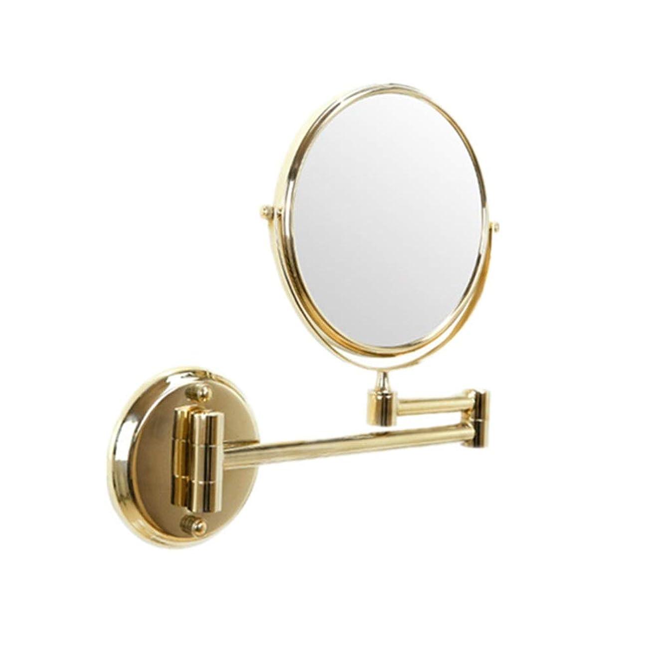 事務所災害ぜいたく化粧鏡 LED照明付きメイクアップミラー両面バニティ通常の鏡と倍率360°スイベル化粧品ミラー メイク化粧道具 化粧鏡 女性礼物 (色 : ゴールド, サイズ : 6in)
