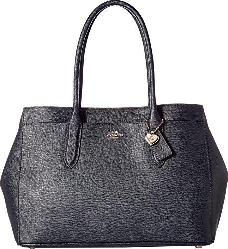 COACH Bailey Carryall in Crossgrain Leather Li/Black One...