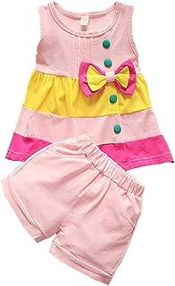 Toddler Baby Girls Clothes Sleeve Top Vest + Short Pant 2pcs Cute Newborn Kids Summer Outfits Shorts Set
