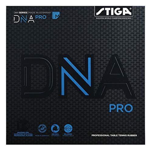 Stiga DNA Pro M, Rojo, 2.1 Table Tennis Rubber, Unisex-Adult, One Size