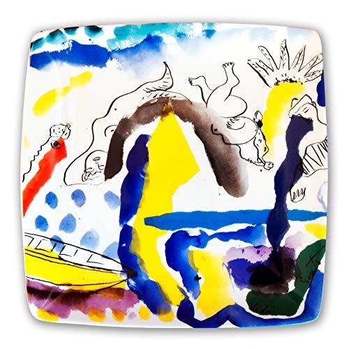 """Ediprem Plato Decorativo de la Obra """"Tierra y Mar"""" de Vidal Souto, Elegancia y distinción en tu Mesa, o para decoración como adorno en la pared. Obra de Arte Limitada y numerada."""