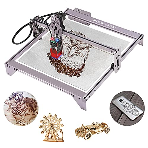Laser Engraver, NASUM 5.5W A5 Pro Fixed Focusing Laser Engraving Cutting Machine,40W Compressed Spot LD CNC,410x400mm Large Engraving Area,Fast High Precision Cut Engraver for Metal Wood Vinyl Leather