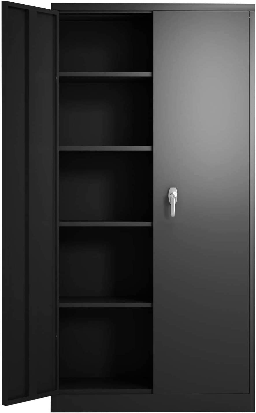 GREATMEET Metal Storage Cabinets with and 4 Locking Doors Product Adjust Ranking TOP17