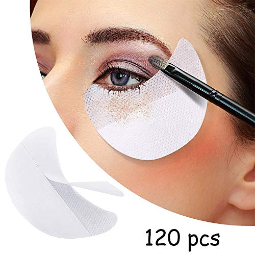 120 Pcs Eye Shadow Shields, Kalolary Eyeshadow Pads Stencils Lint Free Under Eye Pads Eyeshadow Patches For Eyelash Extensions/Lip Makeup