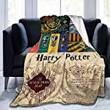 Harry Magic Potter Flannel Blanket Throw Blankets Luxury Ultra-Soft Micro Fleece Blanket for Bed Couch Sofa Chair Dorm Travel Blanket