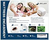 Queen Size Zippered Mattress Encasement | Waterproof Mattress Protector | Protects Against Dust Mites, Bed Bugs, Fluids | Fits Up to 16 Inch Mattress (Queen)