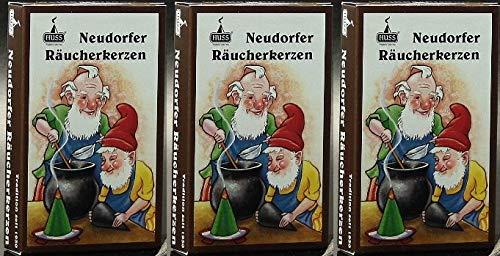 Huss - Neudorfer Räucherkerzen Weihrauch-Duft (3 mal 24 Stück)