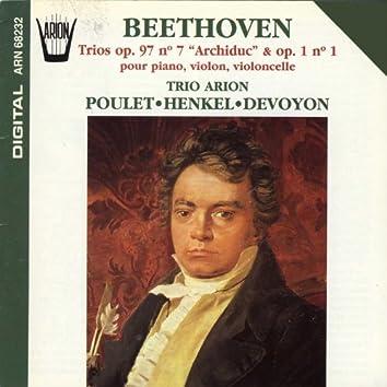 "Beethoven : Trios, Op. 97, No. 7 ""Archiduc"" & Op. 1, No. 1 pour piano, violon & violoncelle"